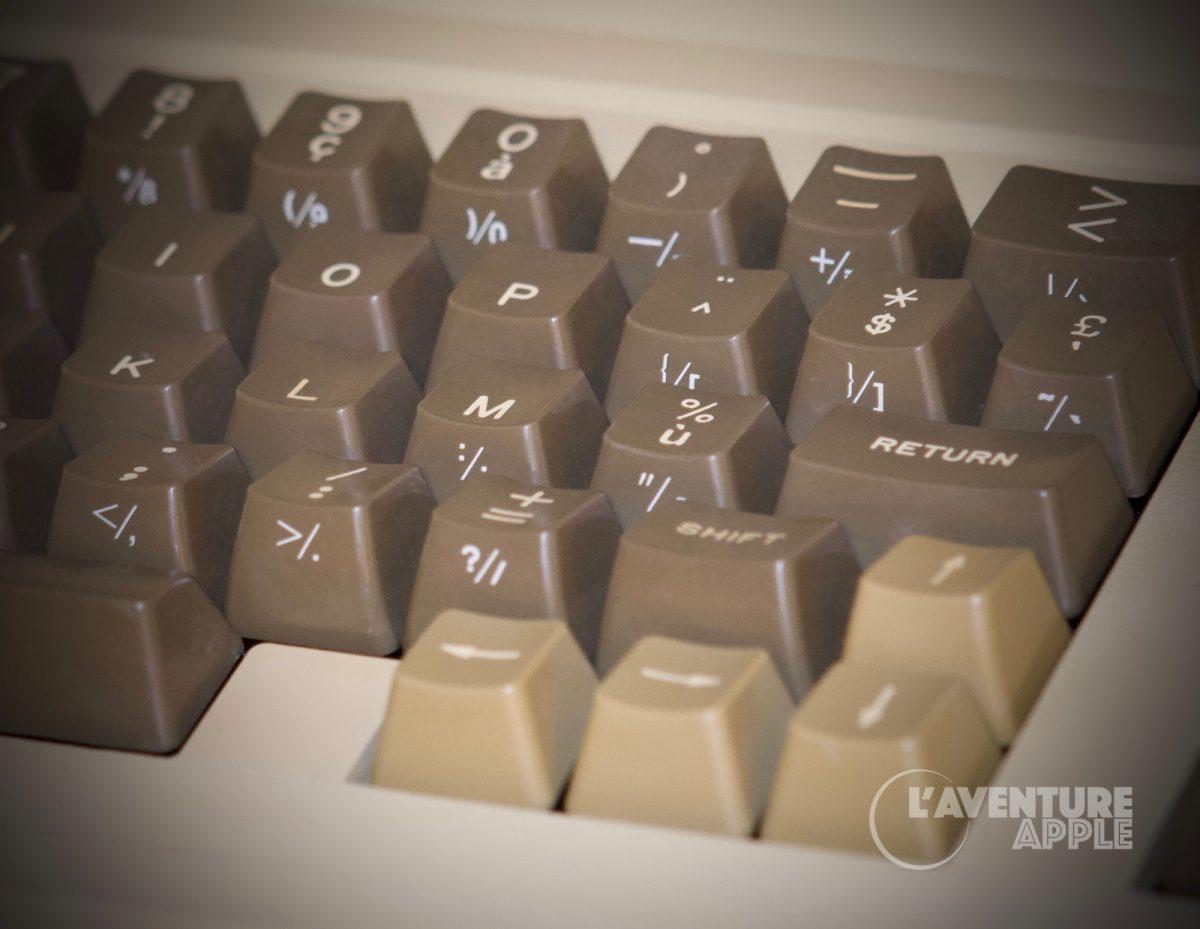 La clavier de l'Apple ///