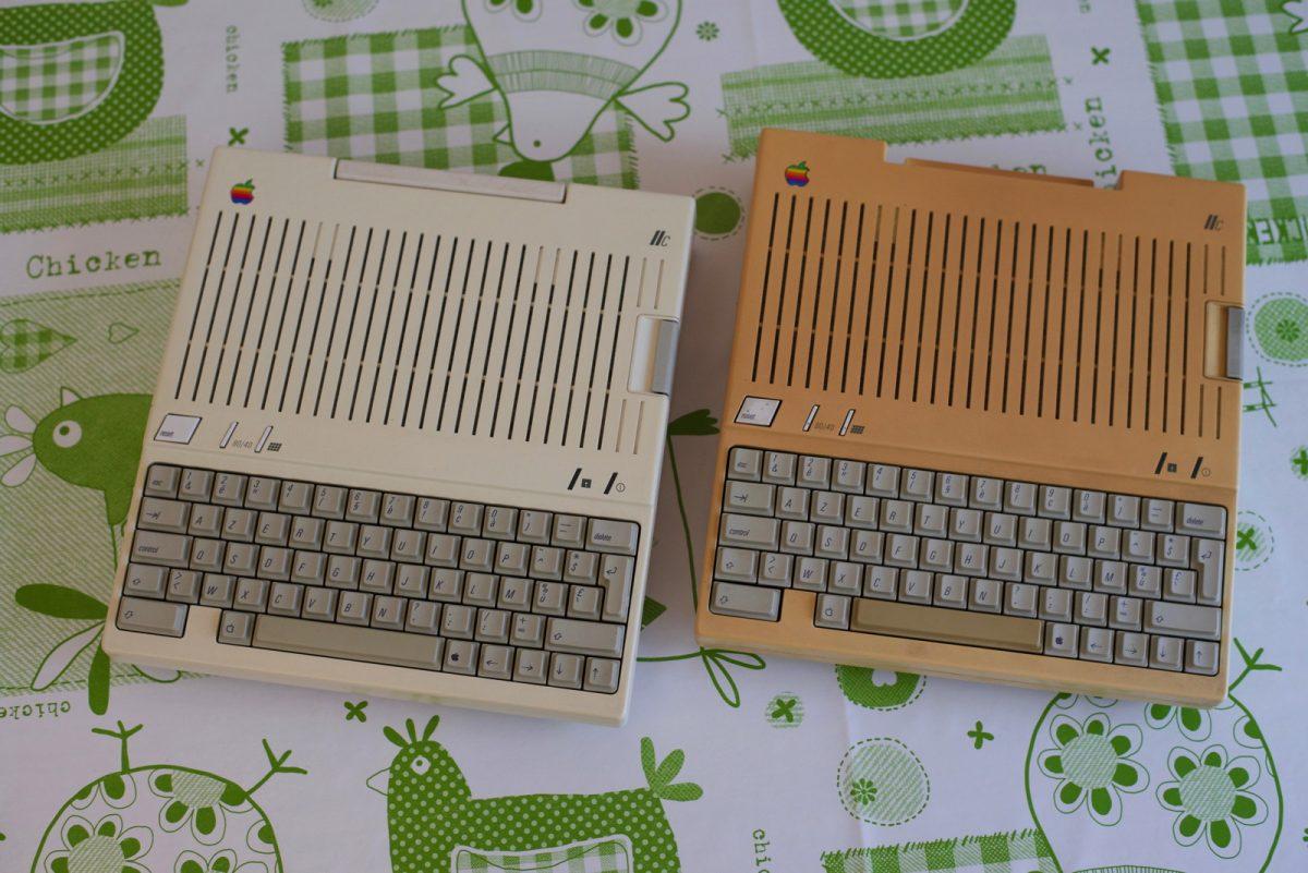 Apple IIc vieilli, jauni, ou blanchi