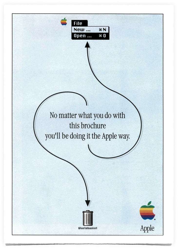 Brochure 1993 d'Apple : the Apple way