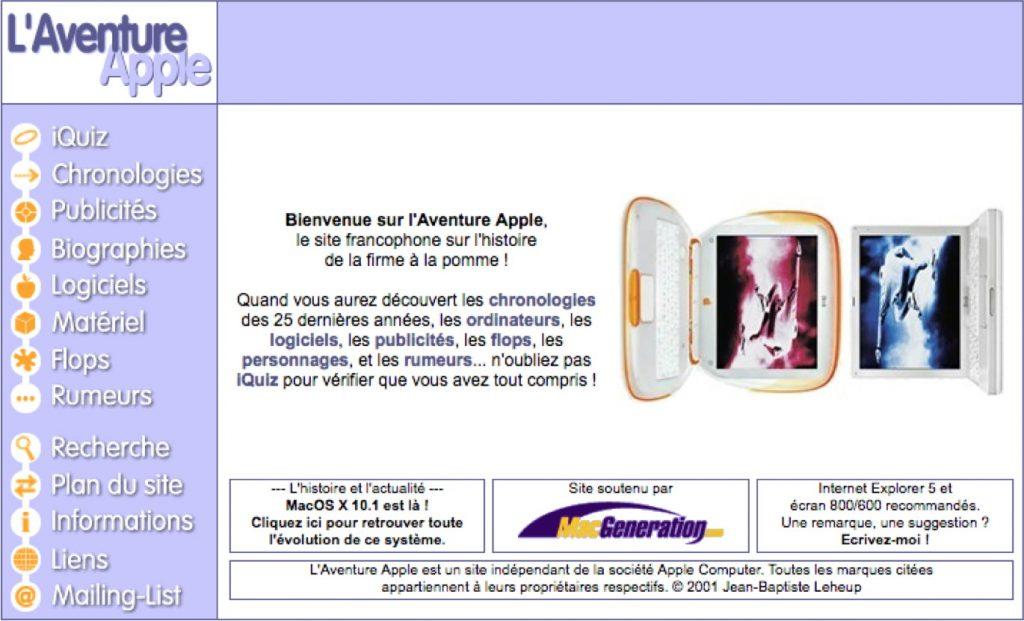 L'Aventure Apple en 2001