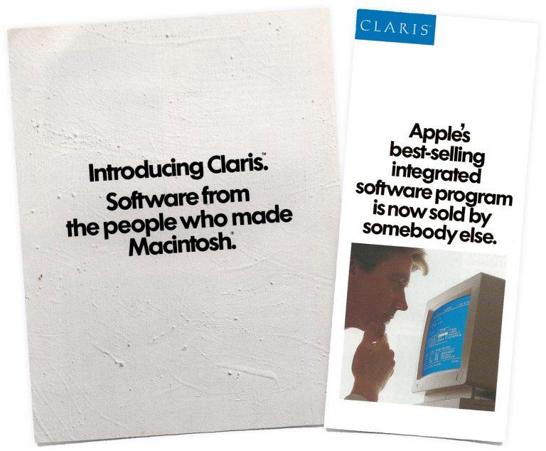 Publicité pour le lancement de Claris
