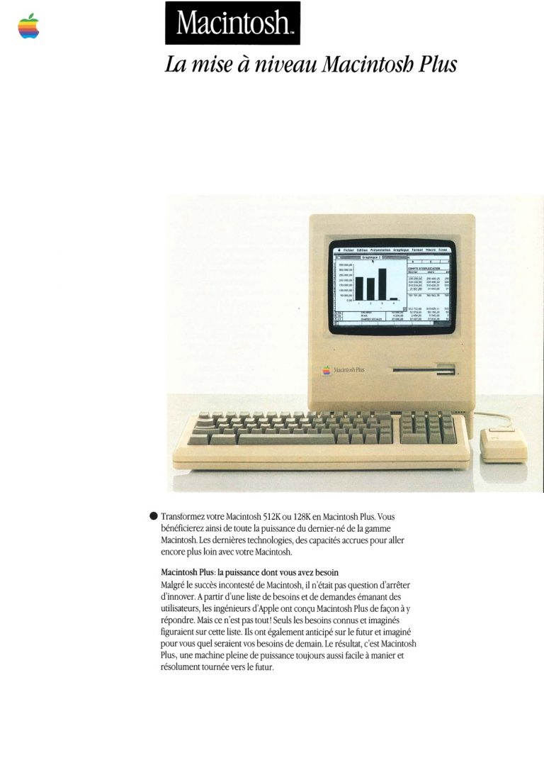 Brochure Apple : La mise à niveau Macintosh Plus