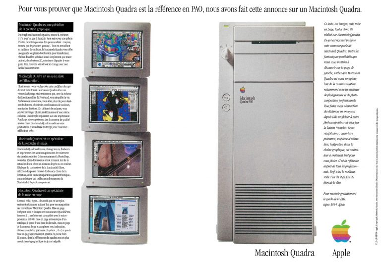 Publicité Apple Quadra 900 de 1992
