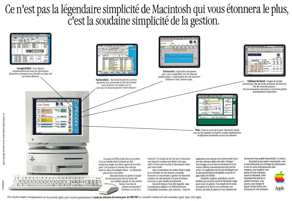 Publicité pour le Mac IIvx - La gestion sur Mac