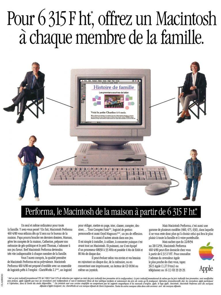 Publicité Apple pour le Performa 460