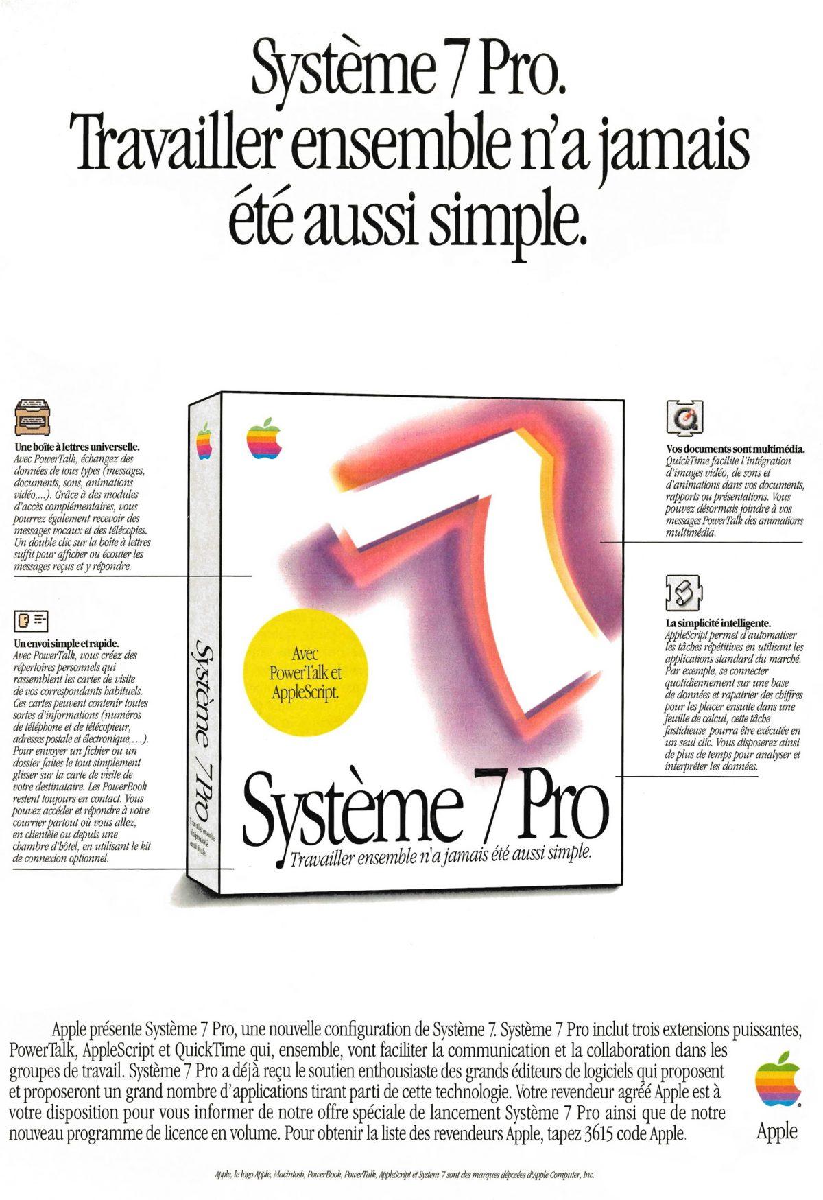 Apple System 7 Pro ad