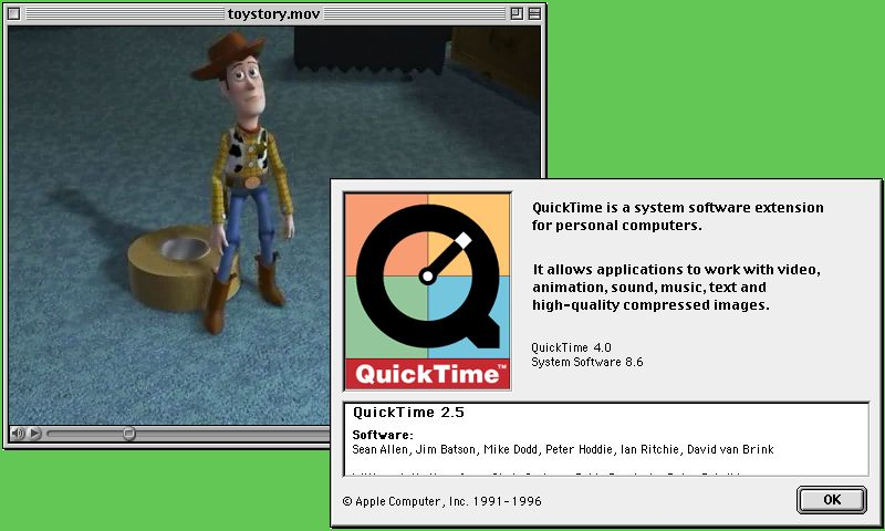 QuickTime 4 codec in QuickTime 2.5 interface