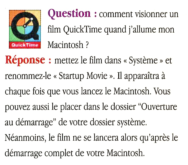 Astuce Apple MacOS Startup Movie