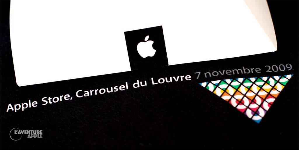 T-Shirt Apple Store, Carrousel du Louvre 7 novembre 2009
