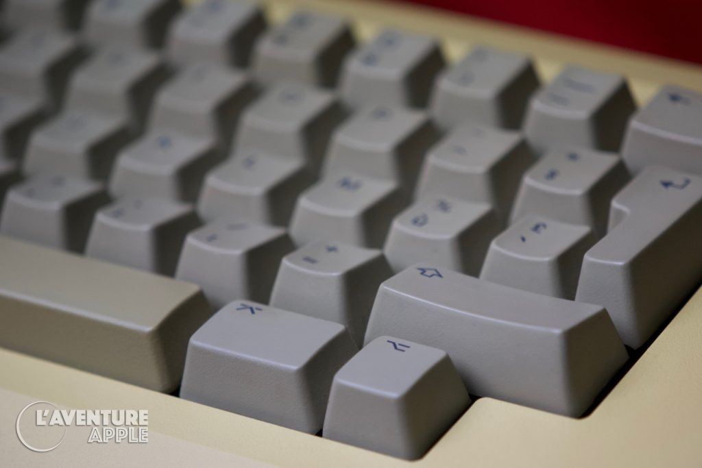 Le clavier du Macintosh, sans flèches