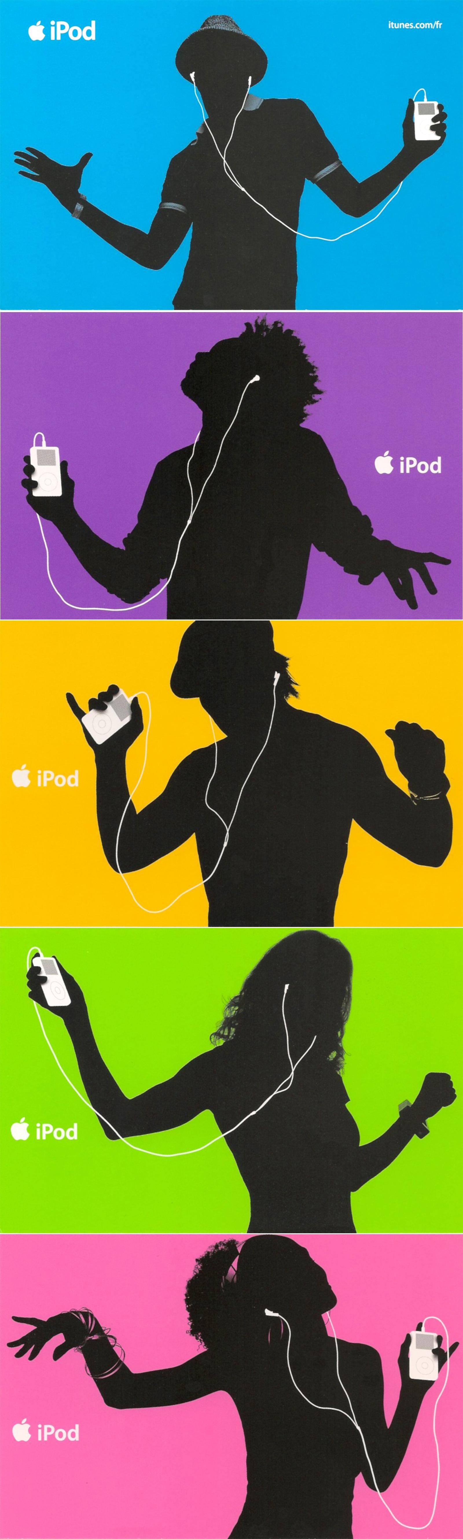 iPod+iTunes en cinq couleurs