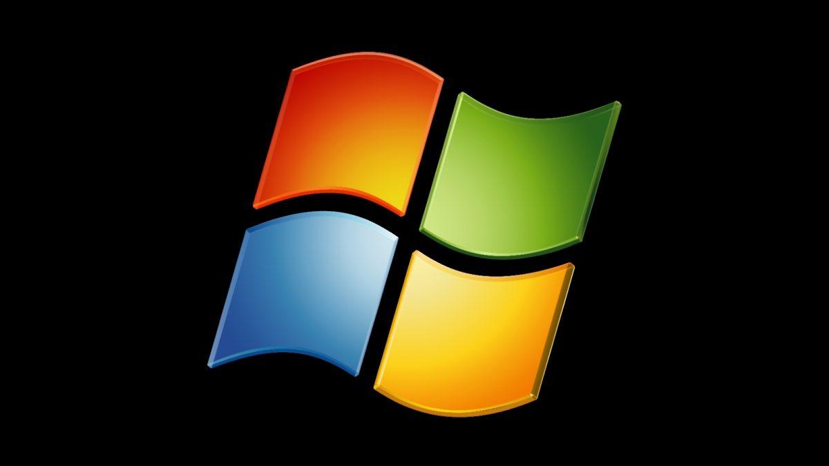 Logo windows sur fond noir