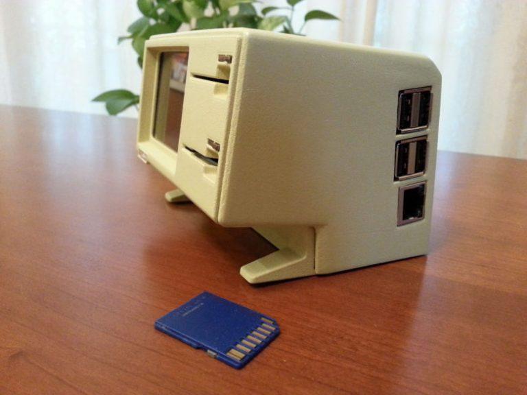3D-printed Lisa usb Hub SD-card reader