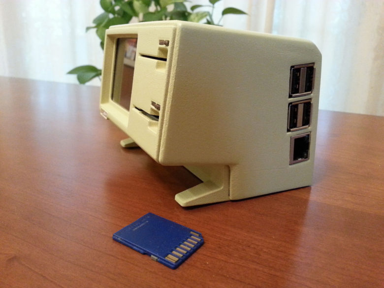 3D-printed Lisa usb Hub SD-card reader