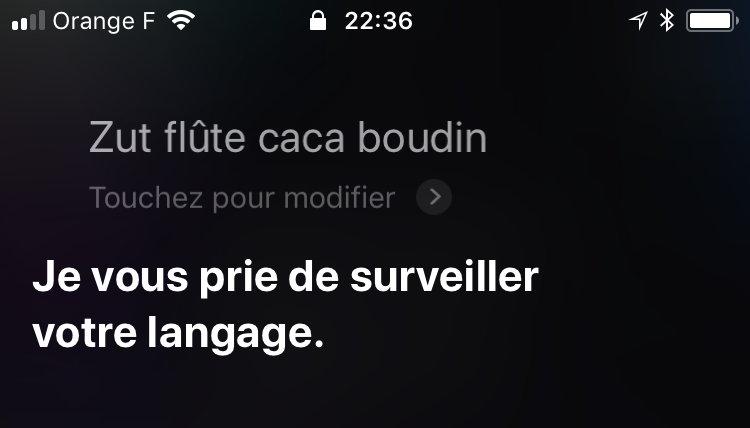Siri : dire des gros mots à son iPhone