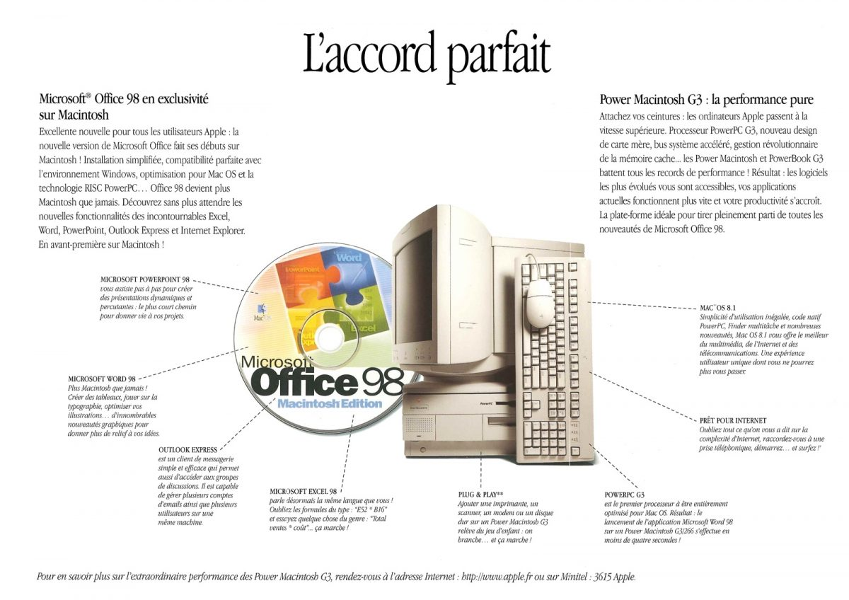 Think First, Think Fast, Think Different : Office 98 sur Macintosh
