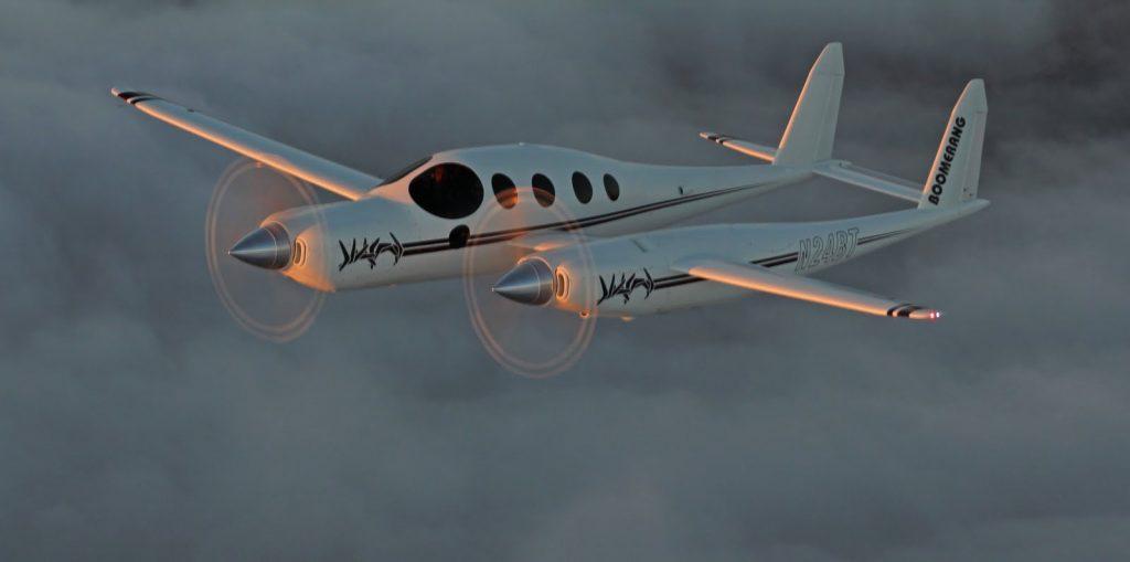 L'avion Boomerang de Burt Rutan en vrai