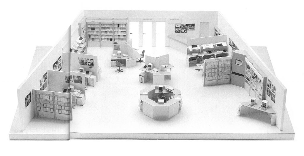 Maquette du revendeur agréé Apple en 1984