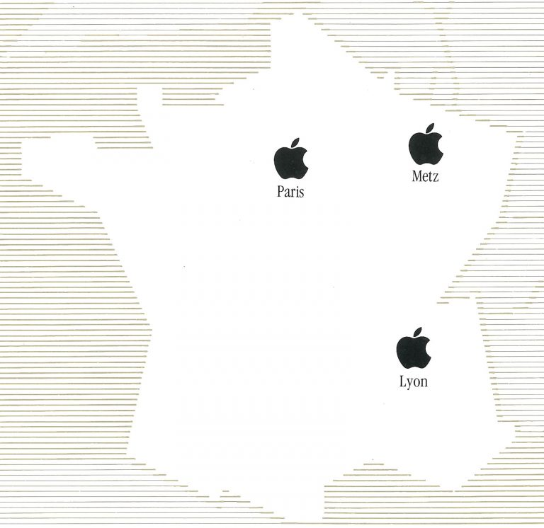 La carte de France d'Apple France (SEEDRIN) en 1984