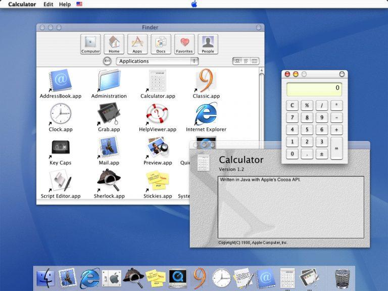 Mac OS X DP 4 - Interface Aqua