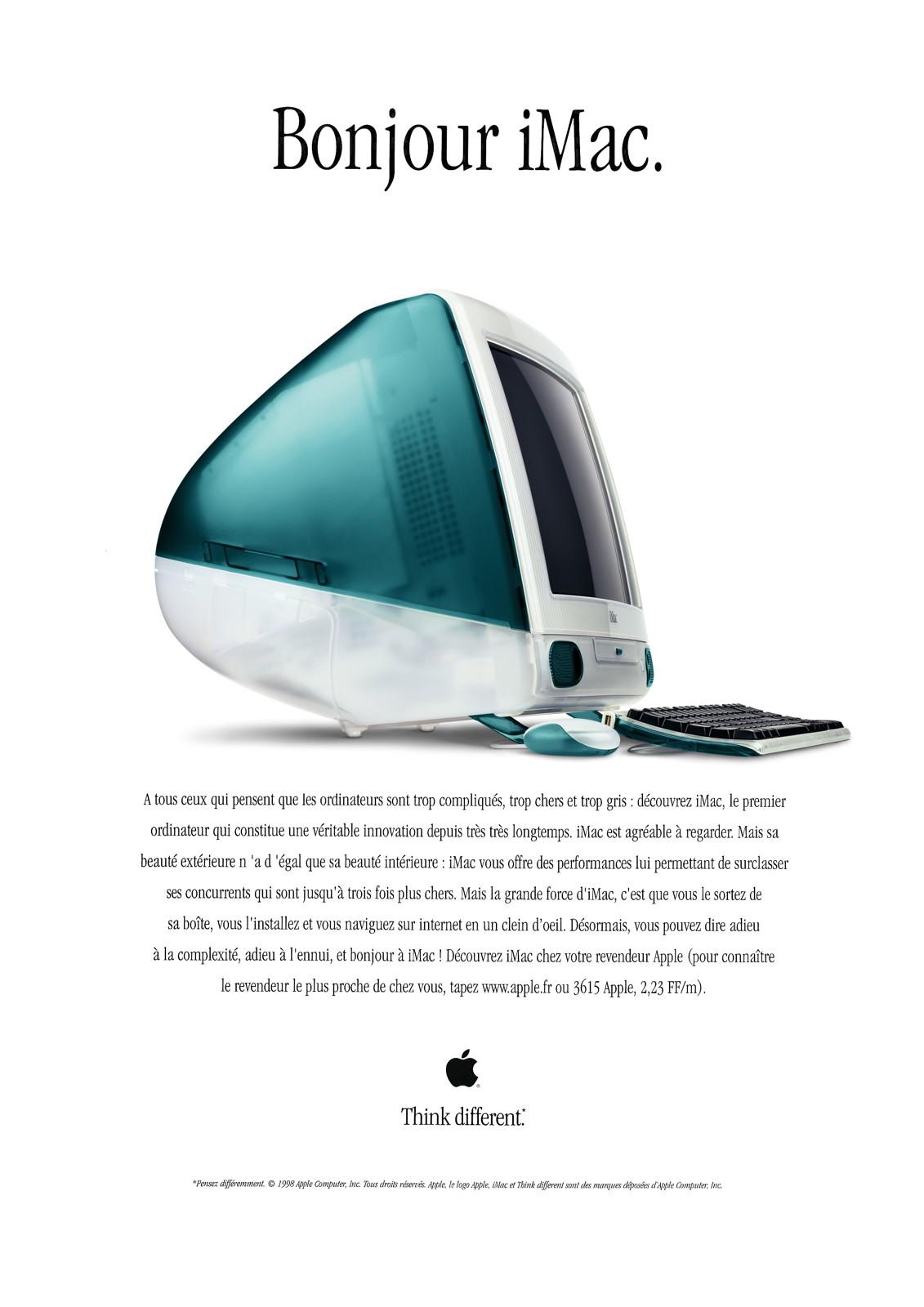 Publicité Apple pour l'iMac 1998