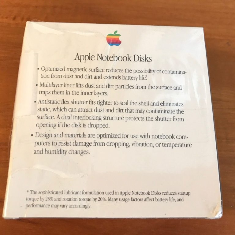 Apple Notebook disks
