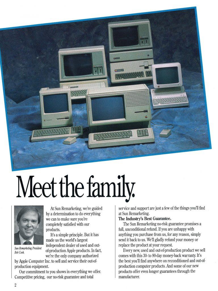 Sun Remrketing 1989 Catalog : Apple IIe, Apple IIc, Lisa, Macintosh Plus, Apple III