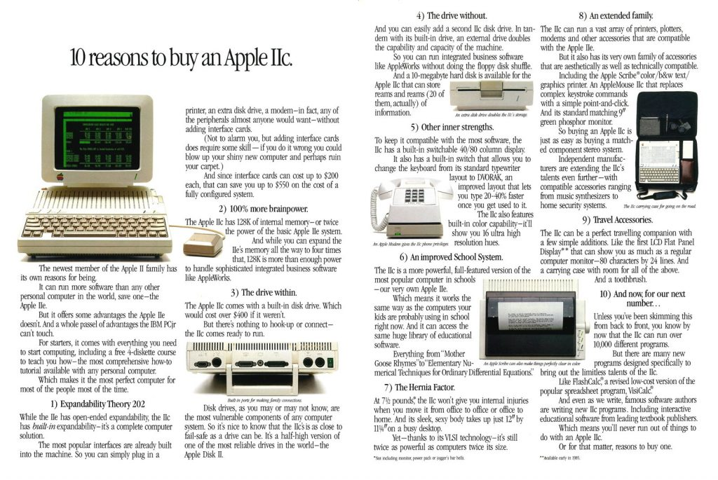 Apple II-something instead of an IBM PC-anything ad
