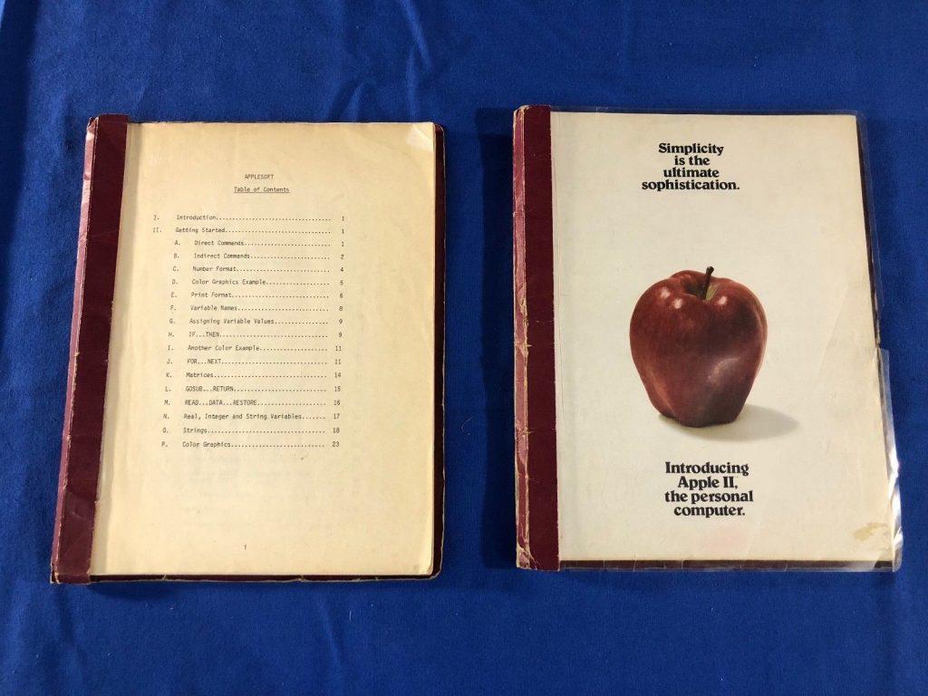 Le premier manuel utilisateur de l'Apple II