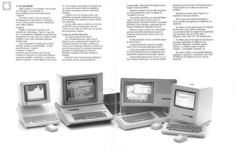 La gamme Apple en septembre 1984