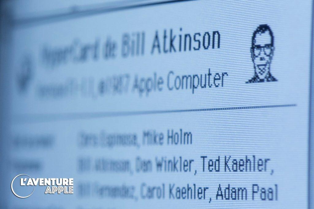 A propos d'Hypercard - About box avec Bill Atkinson