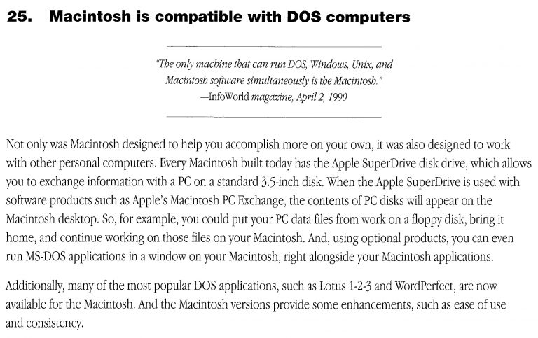 35 Macintosh Advantages Apple 1993