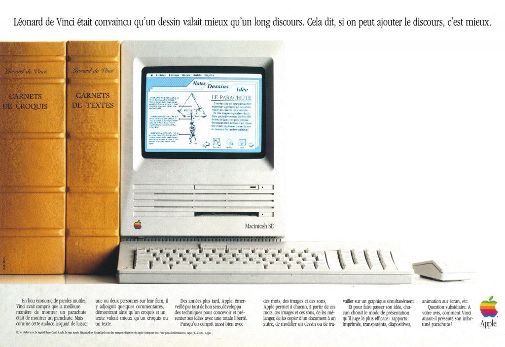 Publicité Apple, Léonard de Vinci