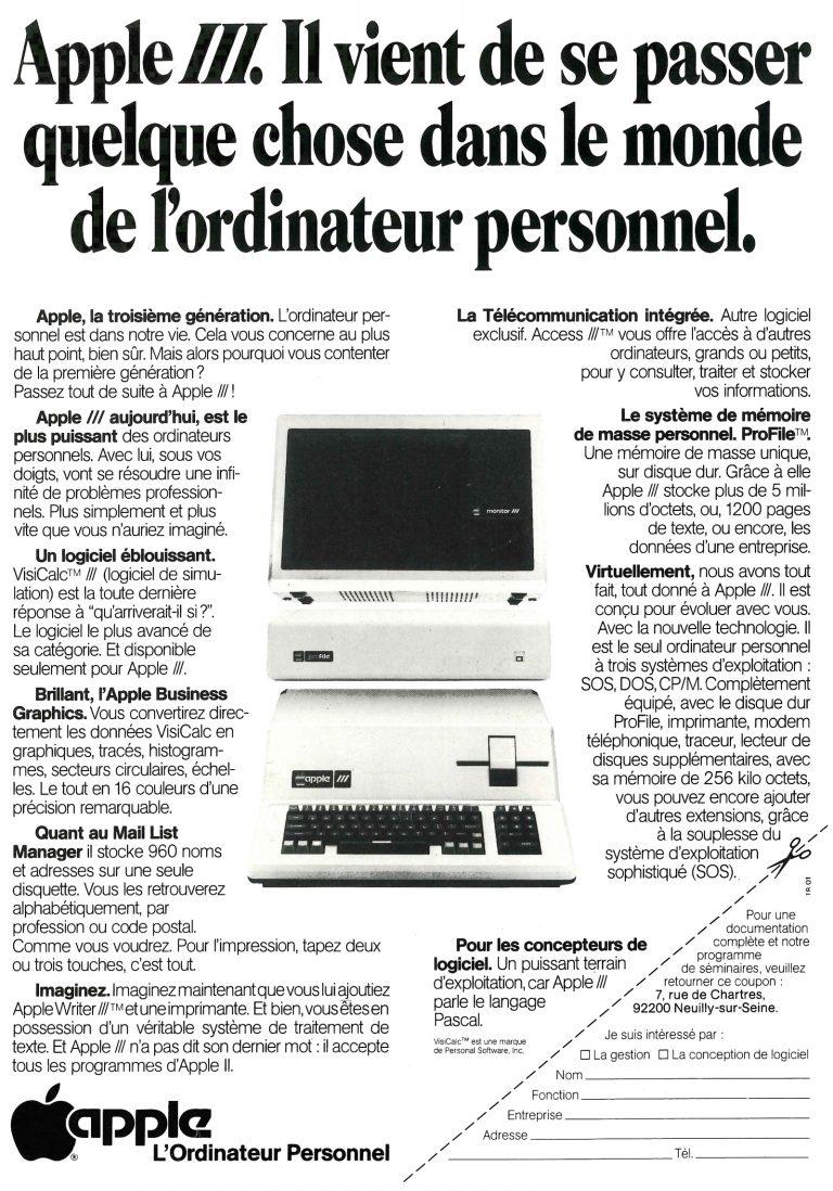 Publicité pour l'Apple III : il vient de se passer quelque chose dans le monde de l'ordinateur personnel
