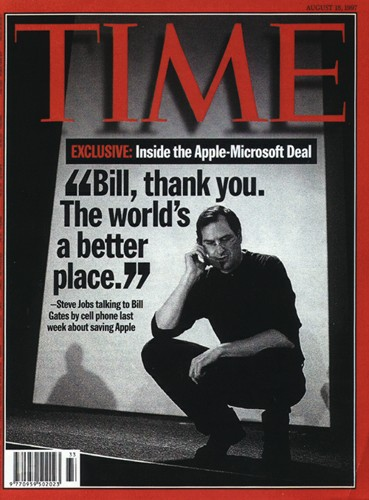 "Couverture du Time : ""Bill, Thank you. The world's a better place""."