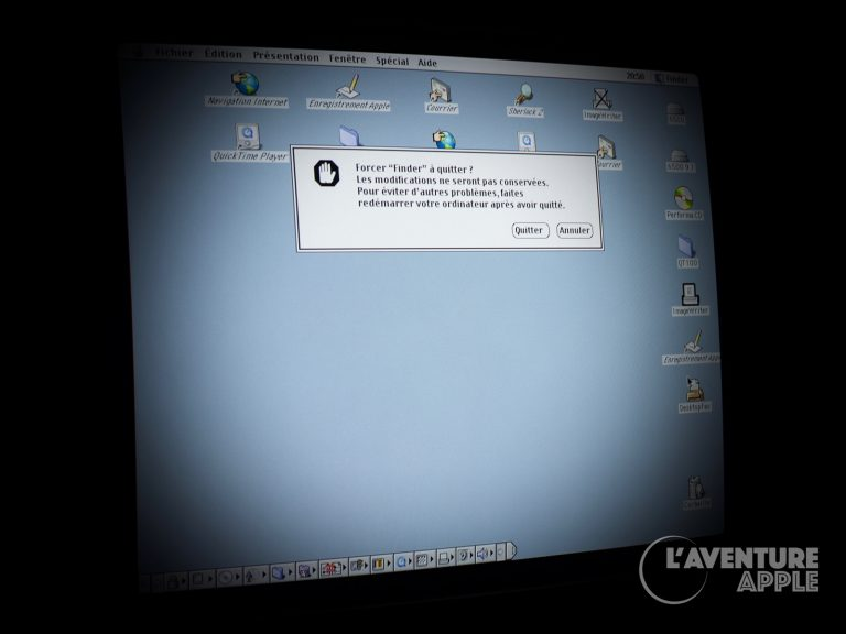 Forcer à quitter le Finder sous Mac OS 9