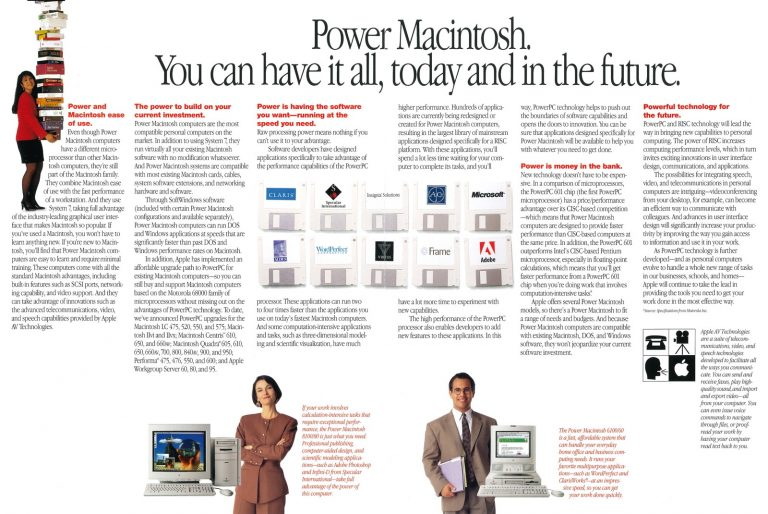 Apple PowerMacintosh : The Future is here
