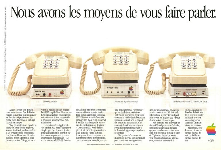 Apple ad modem 19885