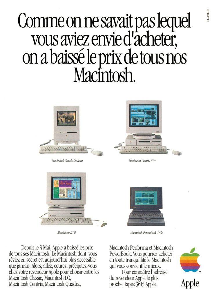 On a baissé le prix de tous nos Macintosh