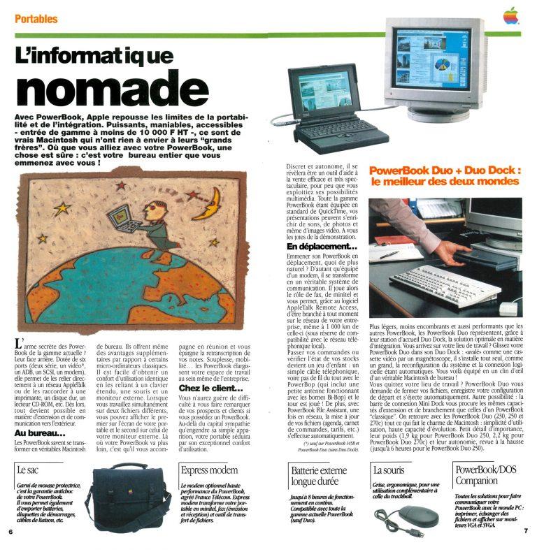 Apple et l'informatique nomade en 1993
