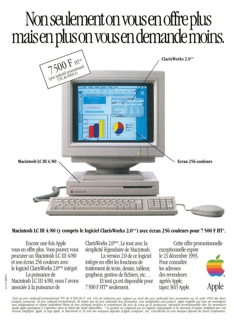 Publicité Apple LC III 1993 Ad