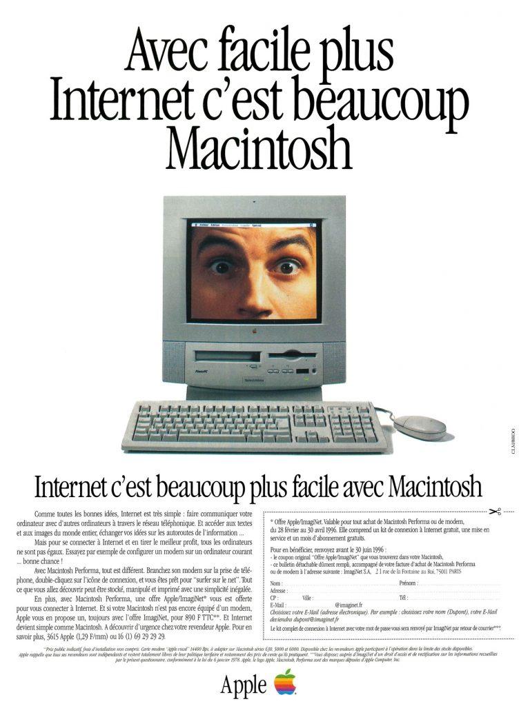 Avec facile plus internet c'est beaucoup Macintosh, 1996