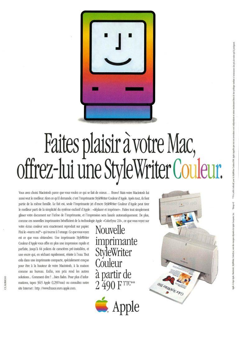 Faites plaisir à votre Mac, offrez-lui une StyleWriter Couleur