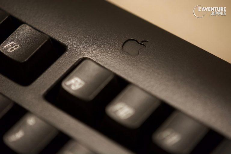 Apple black ADB keyboard clavier noir