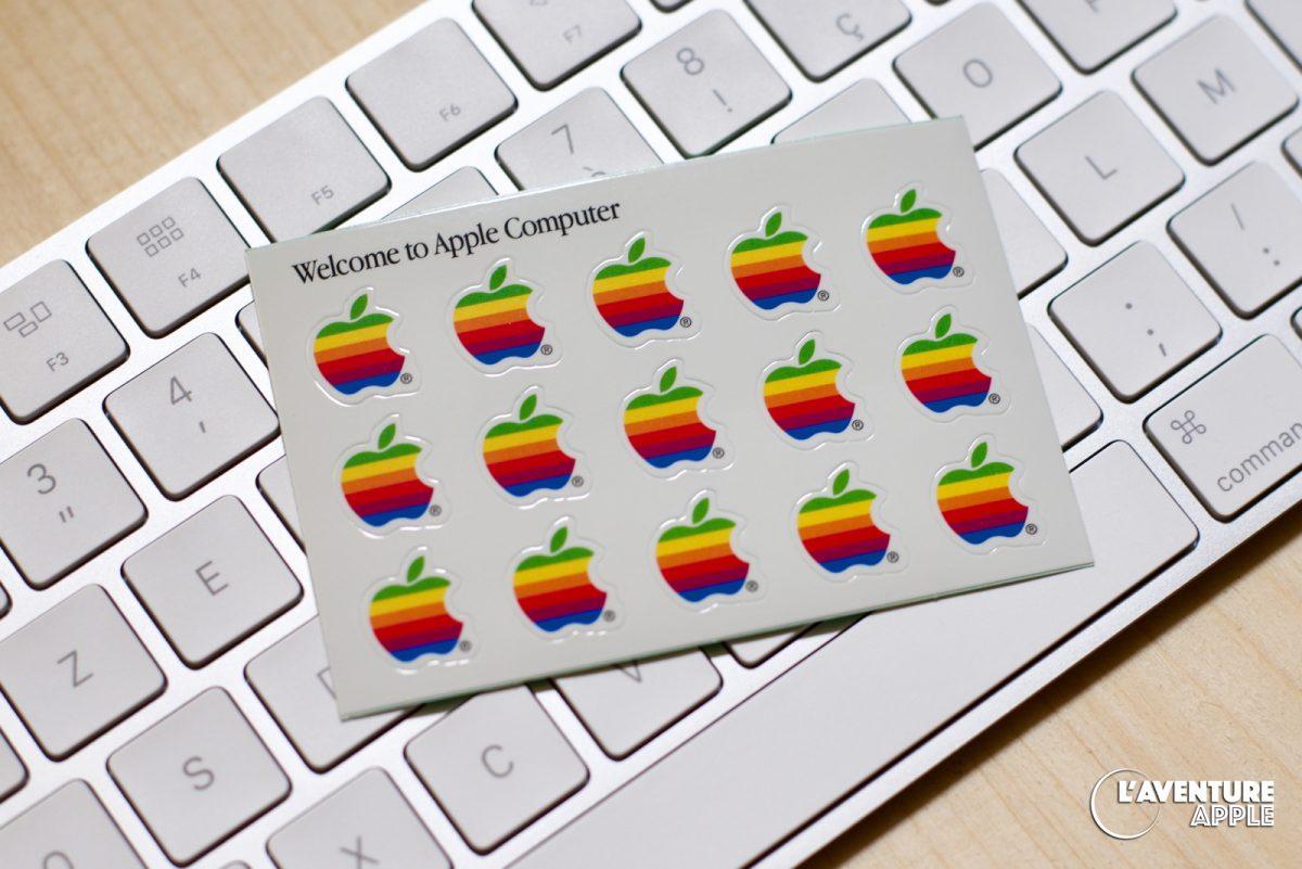 15 Apple logos stickers sheet