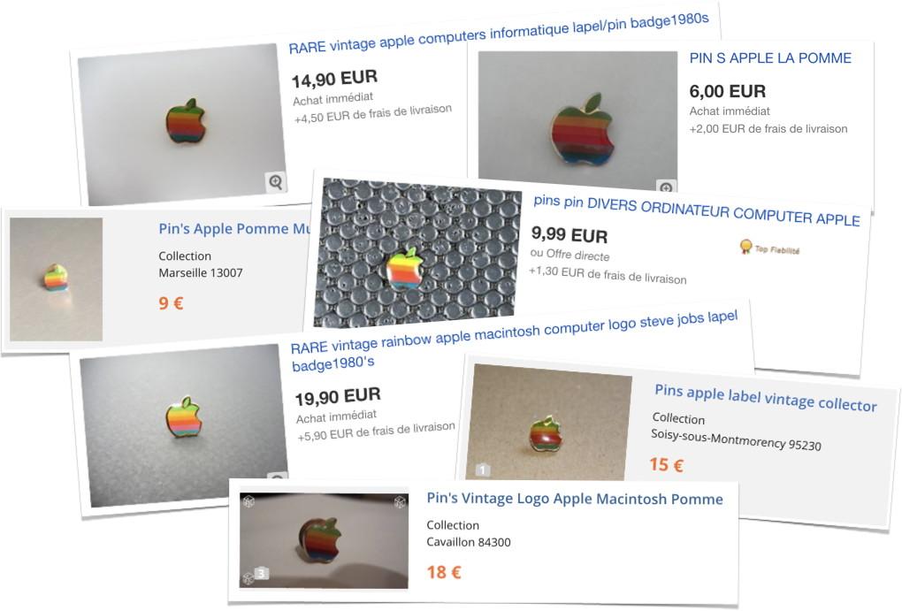 pin's apple en vente sur Internet