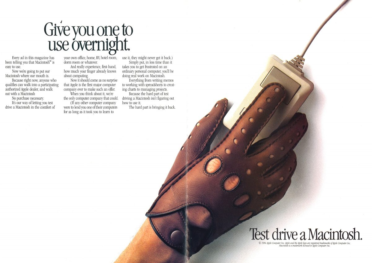 Apple Test Drive a Macintosh 1984 ad