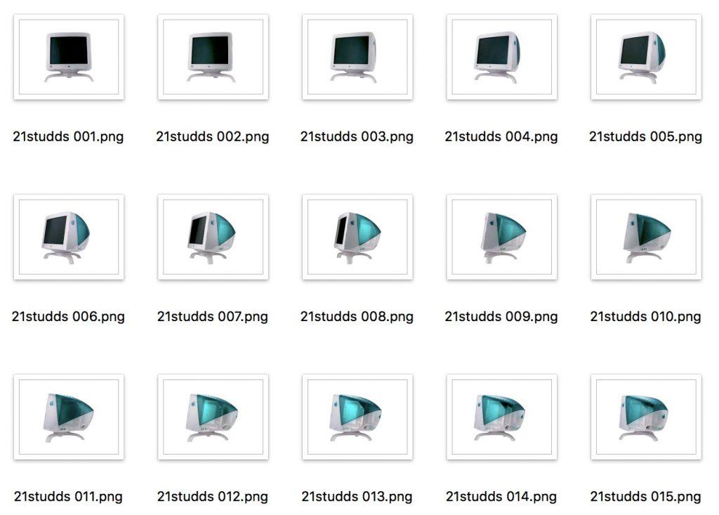 Suites d'images exportées par QuickTime