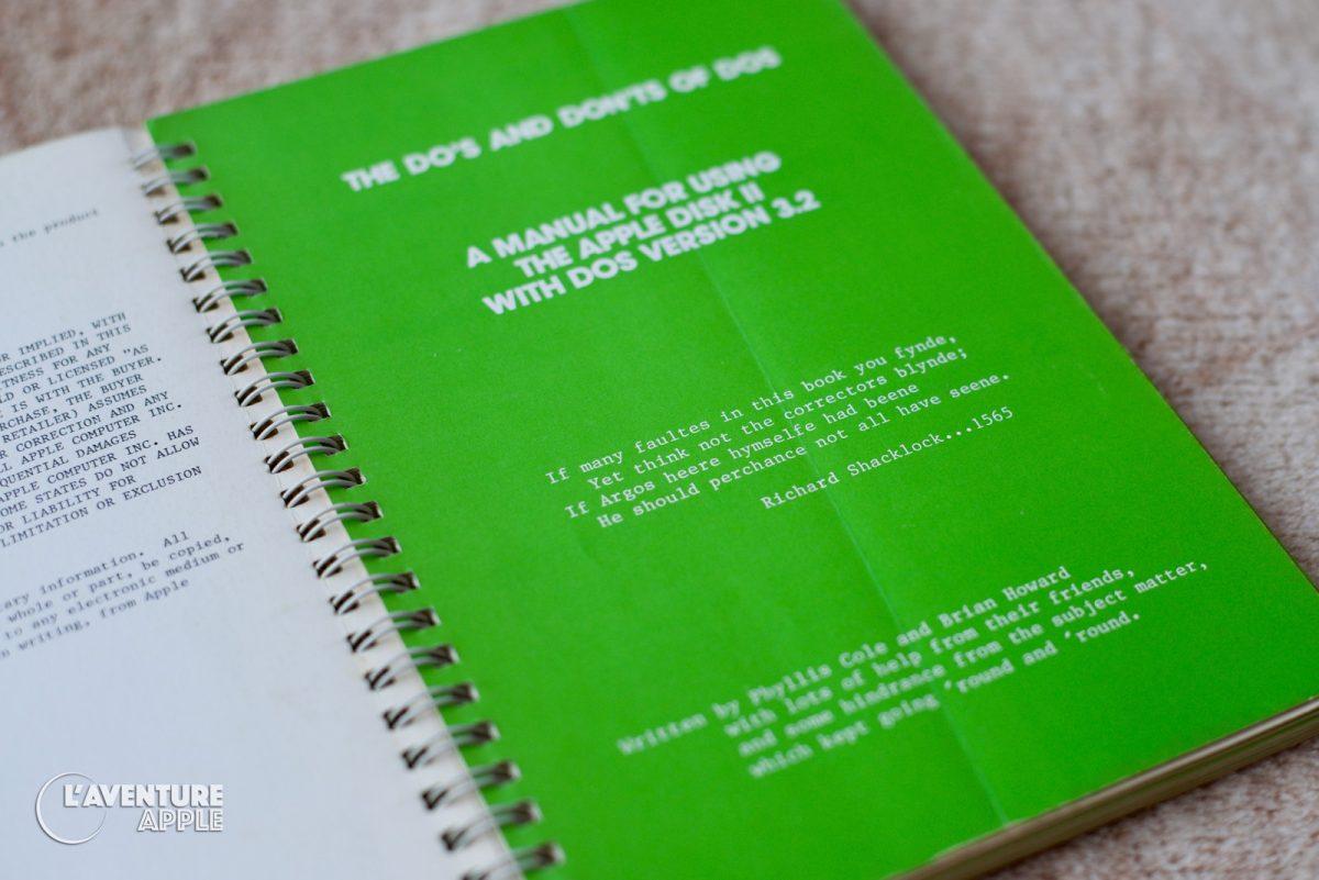 Apple DOS 3.2 manual Richard Shacklock 1565