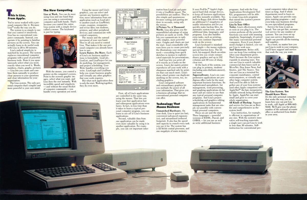 Apple Lisa Foldout Ad